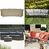SunPatio Outdoor Curved Sectional Couch