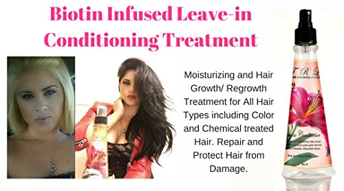 TRL Biotin Infused Leave-in Conditioner Detangler, and Heat Protection Spray by TRL Hair Growth System