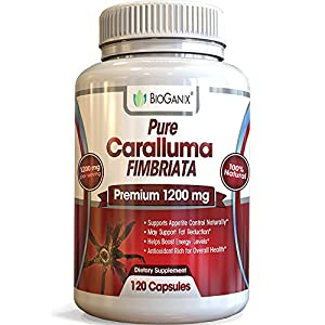 Pure Caralluma Fimbriata Extract 1200 mg serving (120 Capsules) Elite Choice Natural Weight Loss Management Formula For Your Active Health - 60 Day Supply