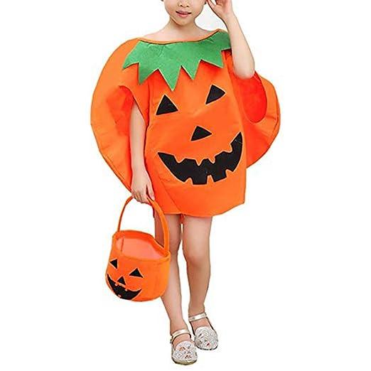 Redxiao Disfraz de Calabaza de Halloween, 3pcs/Set Niños ...
