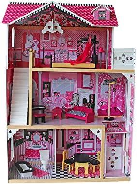 بيت الدمى الخشبي باربي هاوس هدية لعيد ميلاد فتاة بيت الدمى