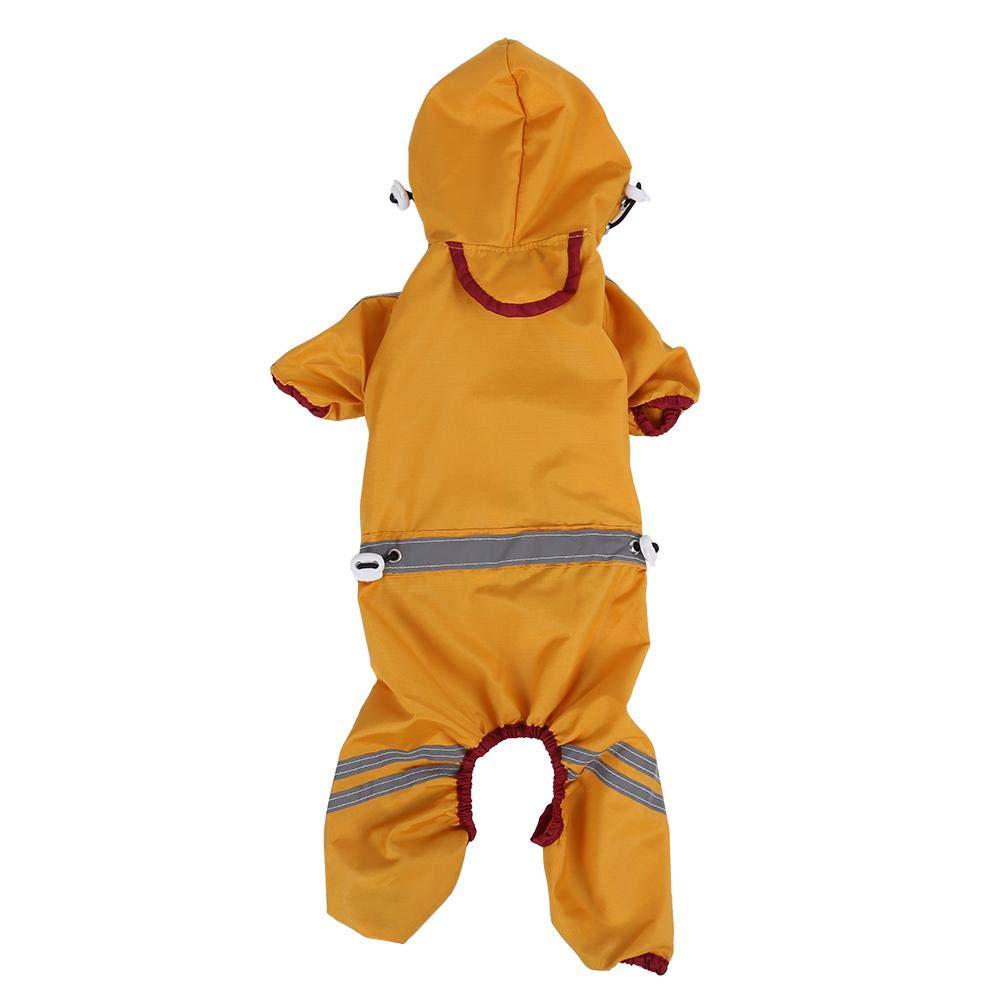 Dog Waterproof Jacket Hood Rain Cover Outdoor Protection Clothes Pet Raincoat L