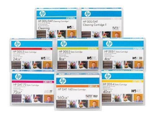 Hewlett Packard C5709A Tape - HP DDS/DAT 4 mm Cleaning Cartridge (50 Cleanings) by HP