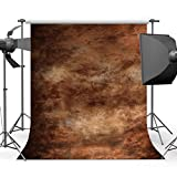 Mehofoto Brown Old Master Backdrop Abstract Texture Photography Backdrops Personalized Portrait Polyester Photo Background for Photographers 5x7