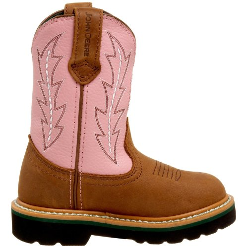 John Deere 2185 Western Boot (Toddler/Little Kid),Tan/Pink,13 M US Little Kid
