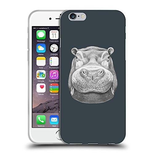 "GoGoMobile Coque de Protection TPU Silicone Case pour // Q05270606 hippopotame 2 Arsenic // Apple iPhone 6 4.7"""