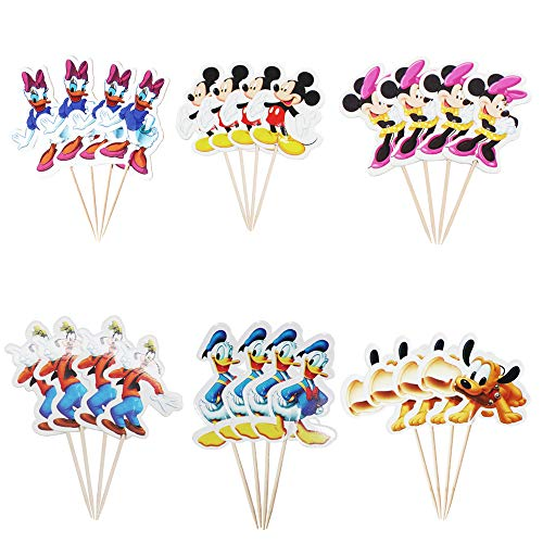 Donald Duck Birthday Party (Mickey Mouse and Donald Duck Themed Cupcake Topper for Birthday Party Baby Shower)