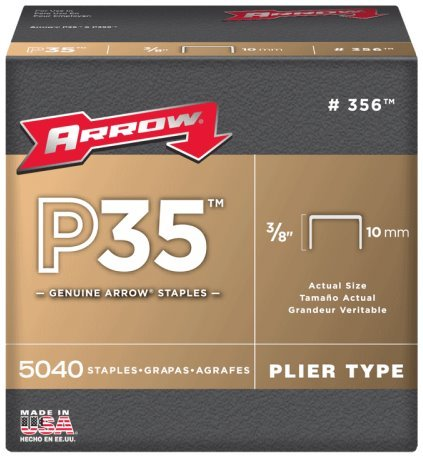 Arrow Fastener 356 3//8 P35 Staples