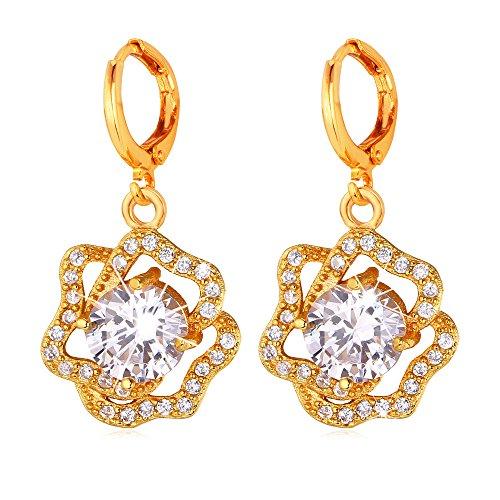 U7 Women Diamond accented Crystal Earrings