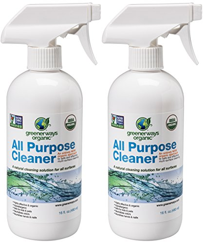 Greenerways Organic All-Purpose Cleaner, Natural USDA Organic Non-GMO, Best Household Multi Surface Spray Cleaner for Home, Natural House Cleaner, Safe House Cleaner – 2 Pack (2) 16oz, MSRP 23.98