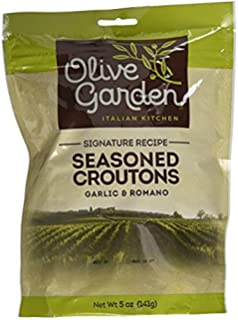 Olive Garden, Seasoned Croutons, Garlic and Romano, 5 Ounce Bag (Pack of