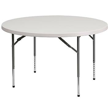 Nice Amazon.com: Flash Furniture 48u0027u0027 Round Height Adjustable Granite White  Plastic Folding Table: Kitchen U0026 Dining