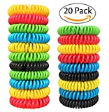 Pack of 20 Natural Mosquito Repellent Bracelets Insect Bug Repellent Bands, Deet-Free Wristband, Pest Control Bands for Kids & Adults by Gogogu