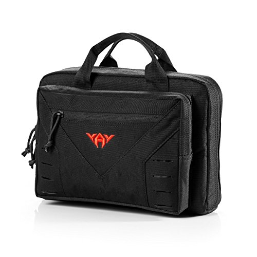 YAKEDA Tactical Shooting Gun Range Bag Tactical Pistol Range Go Bag 10L-A88080(Black)