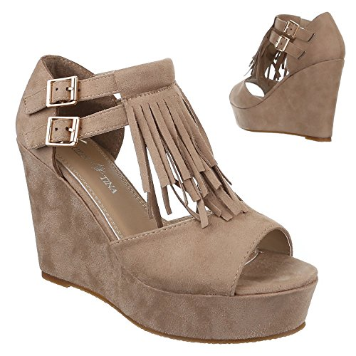 Ital-Design - Sandalias / Sandalias Mujer Marrón - marrón claro