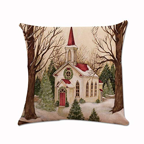 Price comparison product image iYBUIA Xmas Santa Claus Cushion Cover Pillow Case Square Car Home Decor