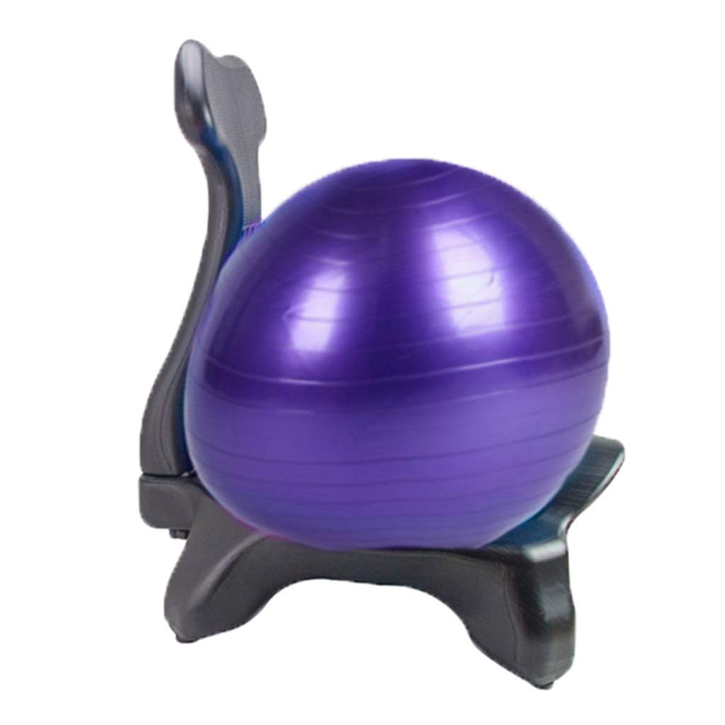 Sports & Fitness Yoga Ball Chair Office Yoga Chair Fitness Movable Massage Chair Home Seat Explosion-Proof Thickened Fixed Ball Stool (Load Bearing: 300kg) Exercise Ball Chairs