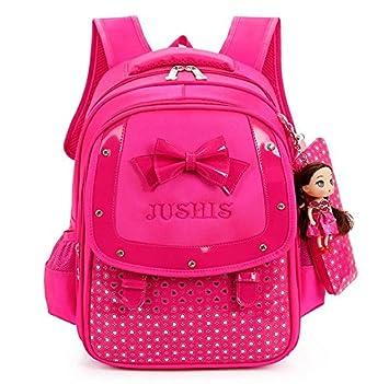 Cute Mochilas para niñas niños mochilas escolares para adolescentes ortopédico Mochila escolar infantil bolsas impermeables,hot pink: Amazon.es: Equipaje