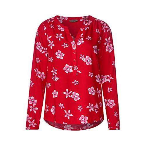 Street One Damen Blumenprint Bluse Vivid Red w3Emwbjy 60