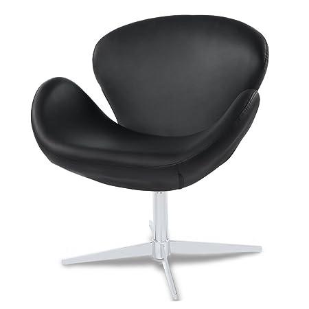Astonishing Swan Swivel Occasional Chair Black Amazon Co Uk Kitchen Creativecarmelina Interior Chair Design Creativecarmelinacom
