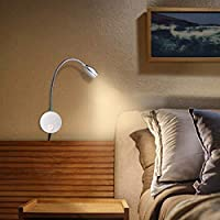 3W, Warm White Reading Lights for Books in Bed Wall Mount Light Minimalist LED Bedside Reading Lamp Bookshelf Display Lights