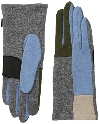 Echo Women's Color Block Glove, heather grey, Large (Echo Touch Gloves)