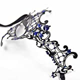 Signstek Glossy Metal Filigree Phantom Half Eye Mask for Venetian Masquerade