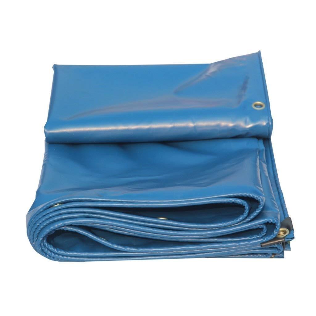 防水シート防水タープシート屋外サンバイザーキャンプ釣り用ガーデニングサンプロテクション用多機能ポンチョ FENGMIMG (色 : 青, サイズ さいず : 5m×7m) 5m×7m 青 B07QXZYTXJ