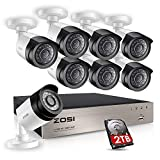 ZOSI FULL 1080P HD-TVI Video Color Security System 8 Channel DVR Reorder w/ 8x2.0 Megapixel 1080P Weatherproof Indoor outdoor Bullet Cameras 2TB Hard Drive Smartphone& PC Easy Remote Access