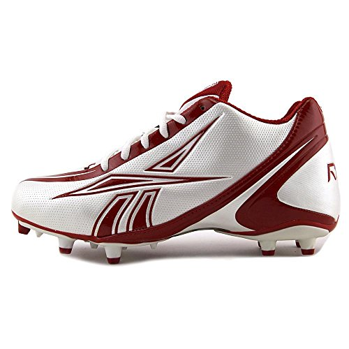 REEBOK NFL BURNER SPEED 5/8 M3 MENS FOOTBALL CLEATS WHITE RED zYso5S