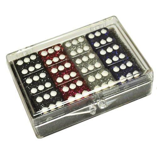 【好評にて期間延長】 Set of 12 Glitter Dice - in Glitter Red - - Silver - Blue - Black in Acrylic Box B007RHEVKY, 花のまちころぼっくる:36e488b3 --- cliente.opweb0005.servidorwebfacil.com