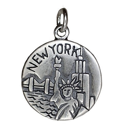 Corinna-Maria Charms CM 925 Sterling Silver New York Charm Big Apple New York Sterling Silver Charm