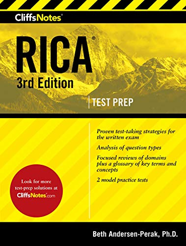 Pdf Test Preparation CliffsNotes RICA 3rd Edition