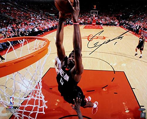 (Clint Capela Signed Autographed Houston Rockets Dunk Close-up 16x20 Photo TRISTAR COA)