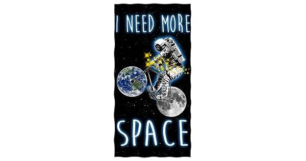 Amazon.com: I NEED más espacio algodón toalla de playa: Home ...