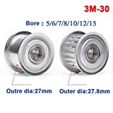 3M30T Timing Belt Pulley Smooth Idler Pulley Bore
