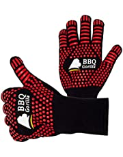 BBQ Gorilla - BBQ Gloves - Heat Resistant for Barbecue Grill Or Oven - for Cooking and Grilling - Silicon Design for Anti-Slip - Safe Up to 500 Degrees Celsius
