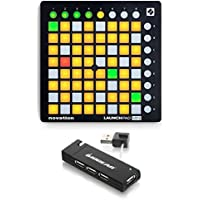 Novation MK2 Launchpad Mini Compact USB Grid Controller with 4-Port USB 2.0 HUB