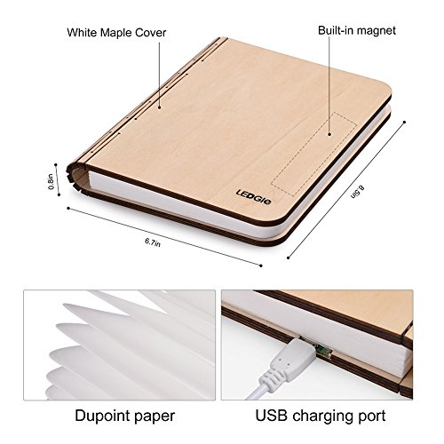 With Mk Wooden Foldable Led Book Light Ledgle Usb