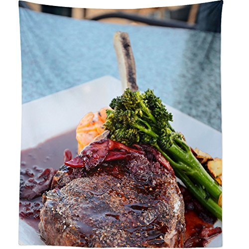 Roasting Standing Rib Roast - Westlake Art Wall Hanging Tapestry - Food Steak - Photography Home Decor Living Room - 26x36in
