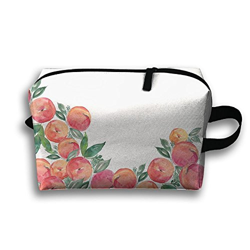 (With Wristlet Cosmetic Bags Rose Bud Brush Pouch Portable Makeup Bag Zipper Wallet Hangbag Carry Case)