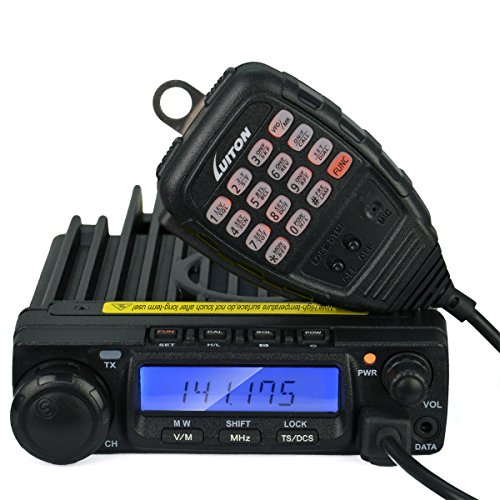 LUITON-LT-590-VHF-2-Way-Mobile-Radio-60Watts-Amateur-Ham-Radio-Car-FM-Transceiver-with-Free-Programming-CableBlack