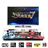 HAAMIIQII Pandora's Key 7 3D Home Arcade Game Console   No Games Pre-Loaded   Full HD (1920x1080) Video   2 Player Game Controls   Add More Games   Support 4 Players   HDMI/VGA/USB/AUX Audio Output