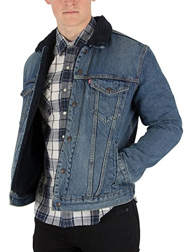 Levi's Men's Type 3 Sherpa Trucker Jacket, Blue, Medium