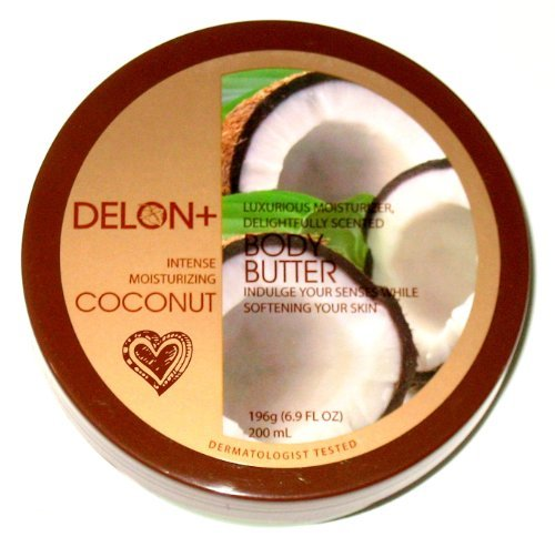 (DELON Intense Moisturizing Coconut Body Butter - 6.9 Oz (2-Pack))