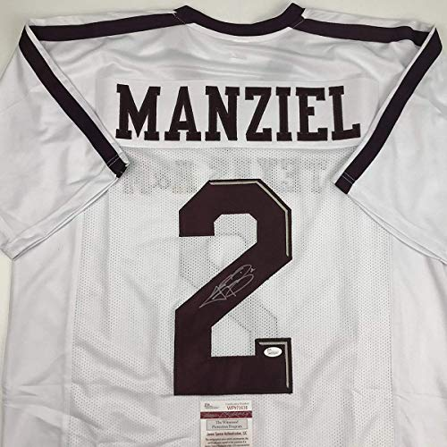 2f88d29c5f6 Autographed Signed Johnny Manziel Texas A M White College Football Jersey  JSA COA