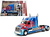 NEW 1:24 W/B JADA METALS TRANSFORMERS - OPTIMUS PRIME - WESTERN STAR 5700 XE PHANTOM Diecast Model Car By Jada Toys
