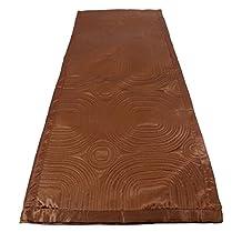 "LUXURIOUS CHOCOLATE BROWN SATIN EMBOSSED LONG BEDROOM BED RUNNER 45 X 220CM - 18"" X 86"""