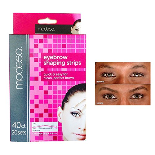 40 Eyebrow Shaping Strips Mini Wax Hair Removal Shapers Face Waxing Smooth Brows by ATB