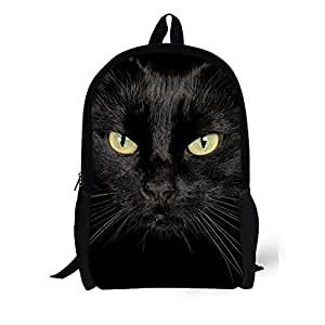 FOR U DESIGNS Big Boys' Vintage Animal Horse Backpack Medium Black Cat